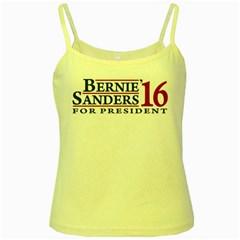 Bernie For President Yellow Spaghetti Tanks by berniesanders2016