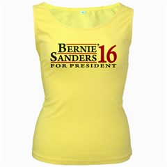 Bernie For President Women s Yellow Tank Tops by berniesanders2016