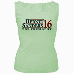 Bernie For President Women s Green Tank Tops by berniesanders2016