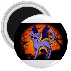 Seruki Vampire Kitty Cat 3  Magnets by Seruki