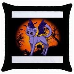 Seruki Vampire Kitty Cat Throw Pillow Cases (black) by Seruki