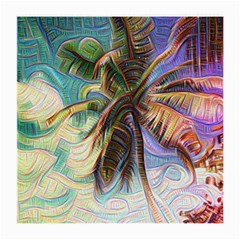 Abstract Rainbow Palm Tree Medium Glasses Cloth by stineshop