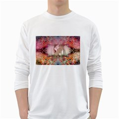 Cell Phone   Nature Forces White Long Sleeve T Shirts