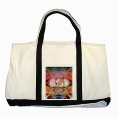 Nature And Human Forces Cowcow Two Tone Tote Bag  by infloence