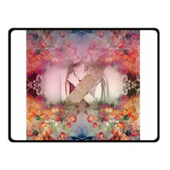 Nature And Human Forces Cowcow Double Sided Fleece Blanket (small)