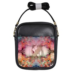Nature And Human Forces Girls Sling Bags by infloence