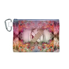 Nature And Human Forces Canvas Cosmetic Bag (m)