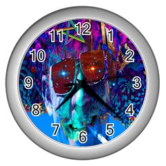 Voyage Of Discovery Wall Clocks (silver)  by icarusismartdesigns