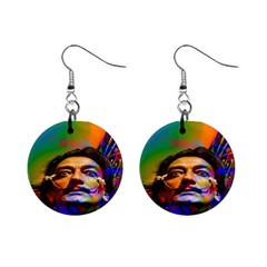 Dream Of Salvador Dali Mini Button Earrings by icarusismartdesigns