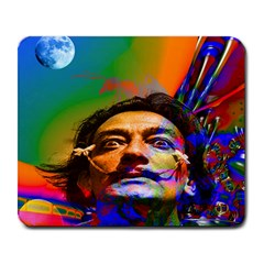 Dream Of Salvador Dali Large Mousepads by icarusismartdesigns