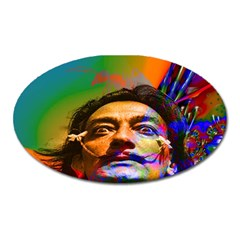 Dream Of Salvador Dali Oval Magnet by icarusismartdesigns