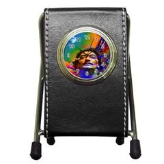 Dream Of Salvador Dali Pen Holder Desk Clocks by icarusismartdesigns