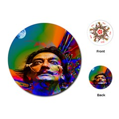 Dream Of Salvador Dali Playing Cards (round)  by icarusismartdesigns