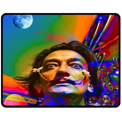 Dream Of Salvador Dali Double Sided Fleece Blanket (medium)  by icarusismartdesigns