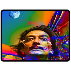 Dream Of Salvador Dali Double Sided Fleece Blanket (large)  by icarusismartdesigns
