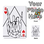 Skull Rock Playing Cards 54 Designs  Front - Heart8