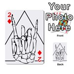 Skull Rock Playing Cards 54 Designs  Front - Diamond2