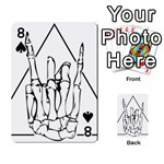 Skull Rock Playing Cards 54 Designs  Front - Spade8