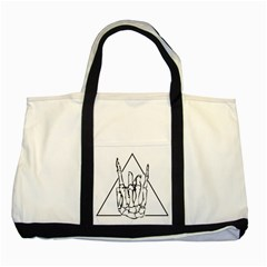 Skull Rock Two Tone Tote Bag  by stoner