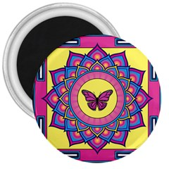 Butterfly Mandala 3  Magnets by GalacticMantra