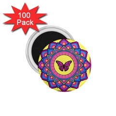 Butterfly Mandala 1 75  Magnets (100 Pack)  by GalacticMantra