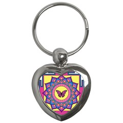 Butterfly Mandala Key Chains (heart)  by GalacticMantra