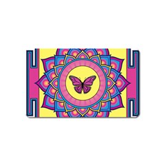 Butterfly Mandala Magnet (name Card) by GalacticMantra