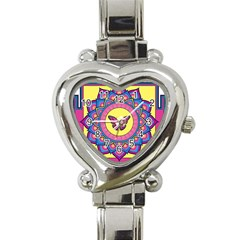 Butterfly Mandala Heart Italian Charm Watch by GalacticMantra