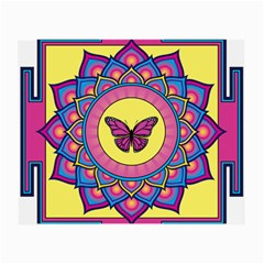 Butterfly Mandala Small Glasses Cloth (2 Side) by GalacticMantra