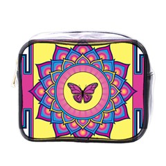 Butterfly Mandala Mini Toiletries Bags by GalacticMantra