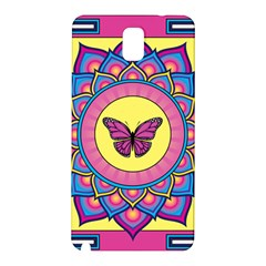 Butterfly Mandala Samsung Galaxy Note 3 N9005 Hardshell Back Case by GalacticMantra