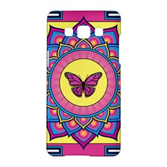 Butterfly Mandala Samsung Galaxy A5 Hardshell Case  by GalacticMantra