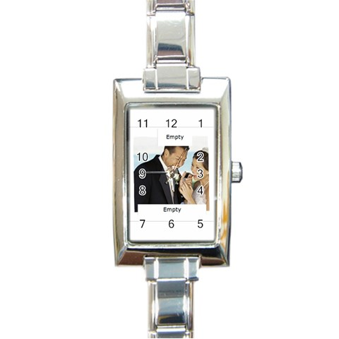 Wedding By Wedding   Rectangle Italian Charm Watch   Iefk9mrnzu45   Www Artscow Com Front