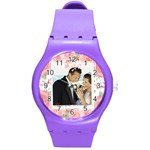 wedding - Round Plastic Sport Watch (M)