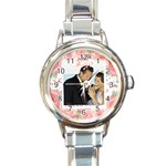 wedding - Round Italian Charm Watch