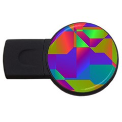 Colorful Gradient Shapes Usb Flash Drive Round (2 Gb) by LalyLauraFLM