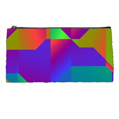 Colorful Gradient Shapes Pencil Case by LalyLauraFLM