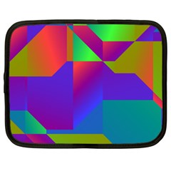 Colorful Gradient Shapes Netbook Case (xxl) by LalyLauraFLM