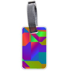 Colorful Gradient Shapes Luggage Tag (two Sides) by LalyLauraFLM