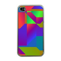 Colorful Gradient Shapes Apple Iphone 4 Case (clear) by LalyLauraFLM