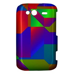 Colorful gradient shapes HTC Wildfire S A510e Hardshell Case by LalyLauraFLM