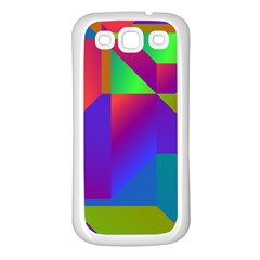 Colorful Gradient Shapes Samsung Galaxy S3 Back Case (white) by LalyLauraFLM