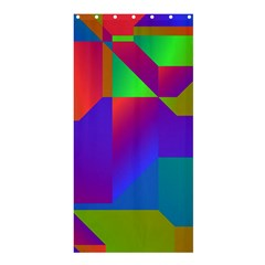 Colorful Gradient Shapes	shower Curtain 36  X 72  by LalyLauraFLM