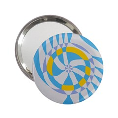 Abstract Flower In Concentric Circles 2 25  Handbag Mirror by LalyLauraFLM