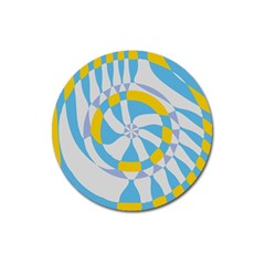 Abstract Flower In Concentric Circles Magnet 3  (round) by LalyLauraFLM
