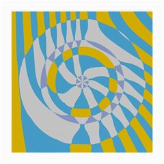 Abstract Flower In Concentric Circles Medium Glasses Cloth by LalyLauraFLM