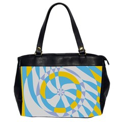 Abstract Flower In Concentric Circles Oversize Office Handbag (2 Sides) by LalyLauraFLM
