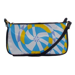 Abstract Flower In Concentric Circles Shoulder Clutch Bag by LalyLauraFLM