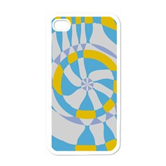 Abstract Flower In Concentric Circles Apple Iphone 4 Case (white) by LalyLauraFLM