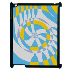 Abstract Flower In Concentric Circles Apple Ipad 2 Case (black) by LalyLauraFLM